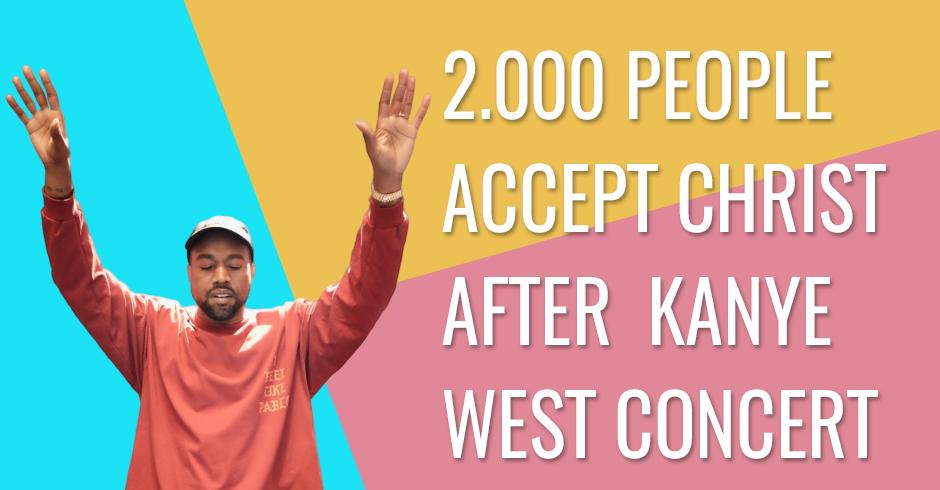 More than 2,000 people accept Christ after Kanye West concert