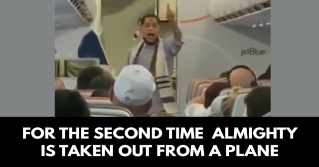 For the second time they take out Almighty from a plane