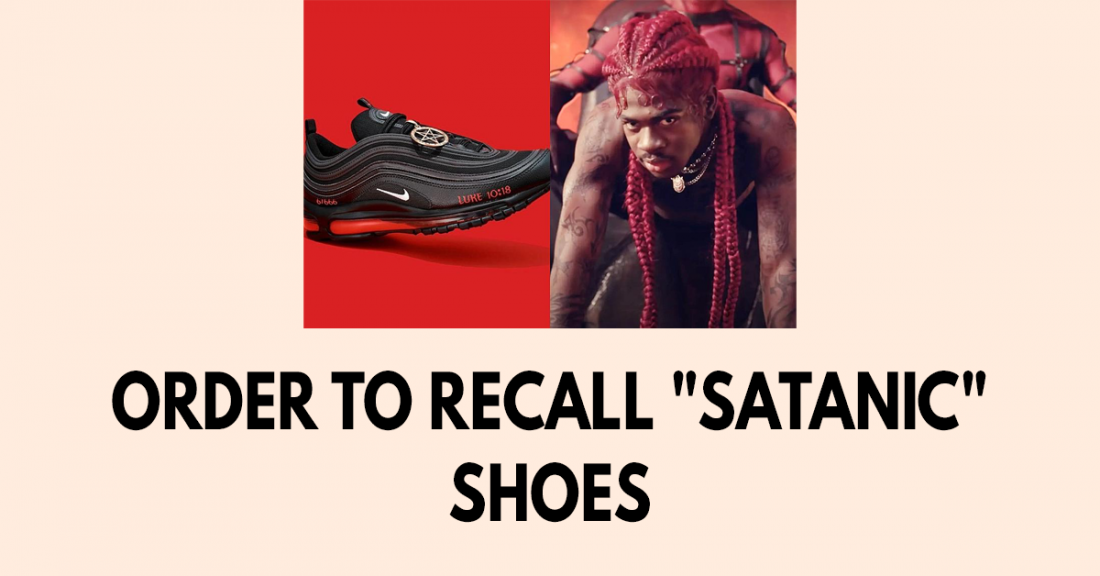 Order to recall satanic shoes