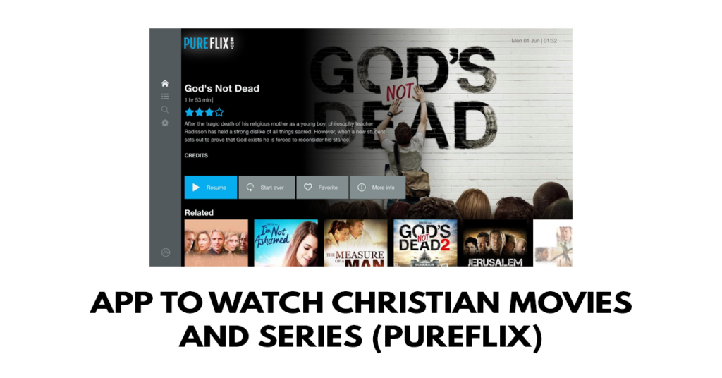 App to watch Christian movies and series (PureFlix)