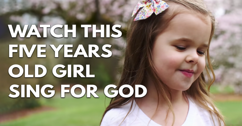 Watch this five years old sing for God